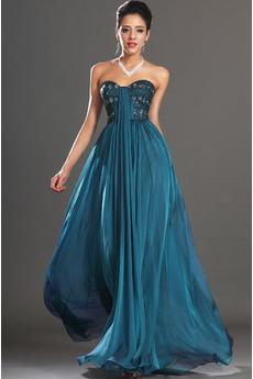 Zimné Stredná späť Srdiečko Elegantné Bez rukávov Večerné šaty