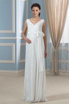 Elegantné Zips nahor veľké veľkosti V krku Bez rukávov Svadobné šaty