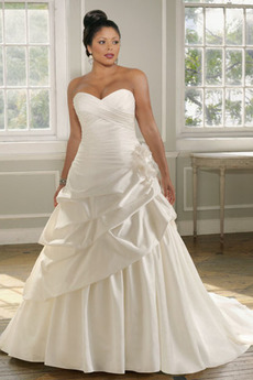 Svetlo šedá Plesové šaty Klesol pasu veľké veľkosti Svadobné šaty
