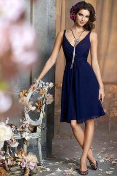 Emmy Námornícka modrá V krku A Riadok Prírodné pása Družica obleko