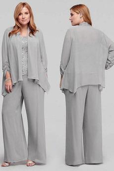 Zavesený Šik Oblek Vysoká zahrnuté Prírodné pása Matka šaty obleky