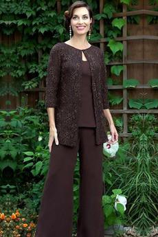 Oblek na nohavice Členok dĺžka Čipka Lopatka Matka šaty obleky