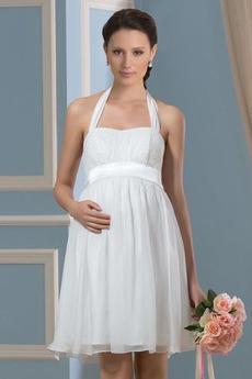 Šifón Skladaný živôtik Letné Skladaný Materstvo Večerné šaty