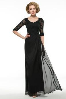 A linka Zips hore Čipkou Overlay Elegantné Zavesený Matné šaty