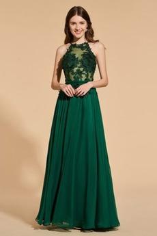 Čipkou Overlay Šperk Šifón Chýbať Prírodné pása Večerné šaty