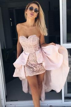 Asymetrické Lopta Elegantné Bez rukávov Letné Koktejlové šaty