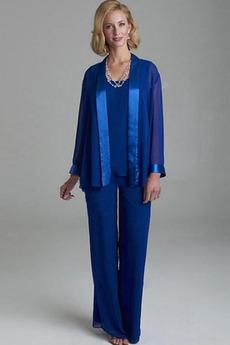 Oblek Dlhými rukávmi Prírodné pása Zavesený Matka šaty obleky