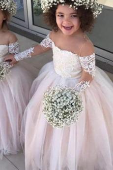 Prírodné pása Zimné Off rameno Elegantné výkon Kvetinové šaty