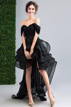 Krátke rukávy Večierok Off rameno Elegantné Letné Koktejlové šaty