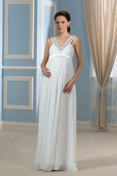Dĺžka podlahy Ríša V krku Zips hore Krídla Ríša pasu Svadobné šaty