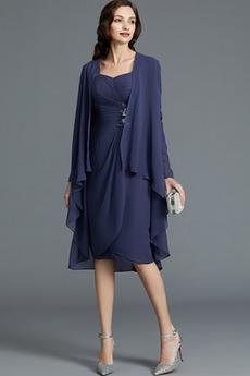 Krátke Oblek Prírodné pása Tri štvrtiny rukávy Tričko Matné šaty