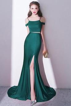 Zips nahor Večierok Elegantné Prírodné pása Jar Večerné šaty
