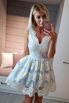 Romantické A-Riadok Jeseň Prírodné pása Lopta Koktejlové šaty