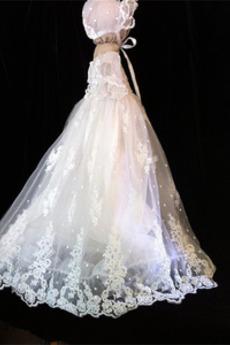Balón rukávmi Luk Letné Formálne Princezná Šperk Otroške obleko