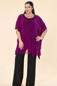 Členok dĺžka Oblek Šifón Vysoká krytia Prírodné pása Matka šaty obleky