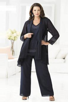 Oblek Tričko Dochádzajú Plusová velkosť Dlhými rukávmi Matka šaty obleky
