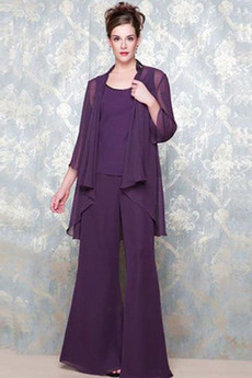 Šifón Oblek na nohavice Vysoká krytia Tričko Matka šaty obleky