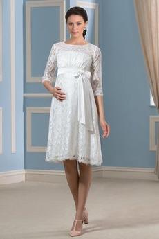 Materstvo Šperk Ríša pasu Vysoký pás Jeseň Lúk Svadobné šaty