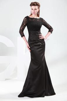 Formálne Vysoká zahrnuté Tri štvrtiny rukávy Nachový Matné šaty