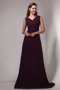 Stredná späť A Riadok Svadobné V krku Zavesený Družičky šaty