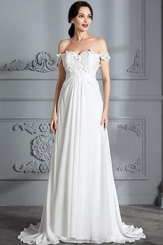 Ríša Elegantné Ríša pasu Limitovaný rukávy Vonkajší Poroka Obleko