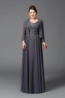 Šifón Pružina Zavesený Dlhé Vysoká krytia Chýbať Formálne Matné šaty