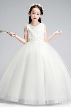A Riadok Zips hore Elegantné Zimné Tyl Prírodné pása Kvetinové šaty