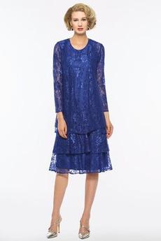Čipka Ilúzia rukávmi A linka Chýbať Zavesený Elegantné Matné šaty