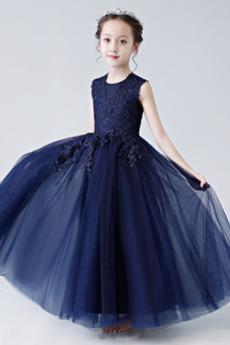 Čipka A-Riadok Chýbať Pružina Čipkou Overlay výkon Kvetinové šaty