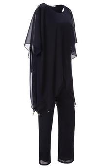 Formálne Krátke rukávy Oblek na nohavice Členok dĺžka Matné šaty