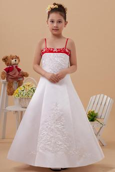 Tenký Satén Zlatý glóbus Sála Pružina Výšivka Kvetinové šaty