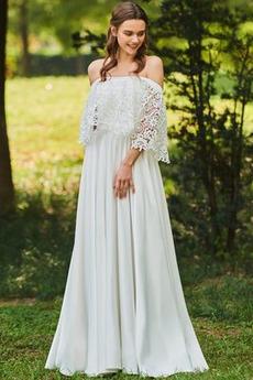 S hlbokým výstrihom Prostý Nášivky A-Riadok Prírodné pása Svadobné šaty