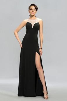 S hlbokým výstrihom Tenký Šifón Členok dĺžka Klasický Večerné šaty