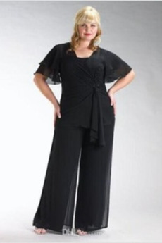 Členok dĺžka Svadobné veľké veľkosti S nohavice Matka šaty obleky