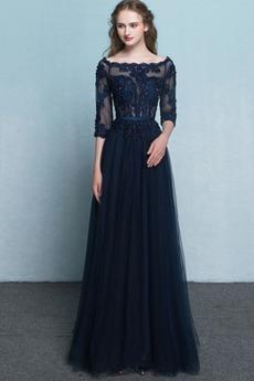 Vidieť skrz A Riadok Elegantné Ilúzia rukávmi Chýbať Večerné šaty - 1SATY.SK 71c64262b1