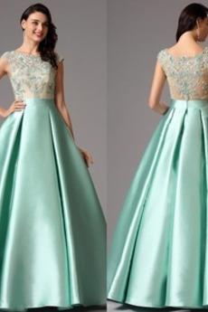 A Riadok Prírodné pása Satén Zimné Elegantné Kryštál Večerné šaty