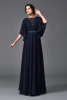 Dĺžka podlahy Lopta Elegantný Krátke rukávy A-Riadok Matné šaty