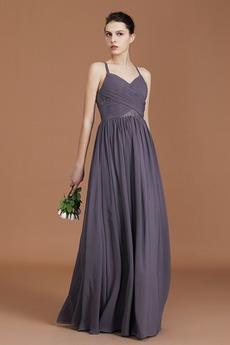 Šifón Prírodné pása S hlbokým výstrihom A-Riadok Družičky šaty