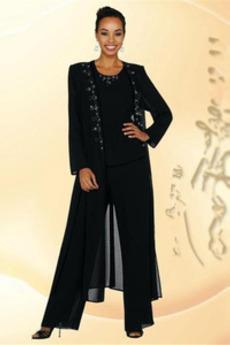 Šifón Členok dĺžka Oblek Plusová velkosť Tričko Matka šaty obleky