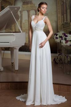 Pošva Vonkajšie Zašnurovať topánky Zdvihnutý Elegantné Svadobné šaty