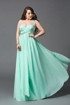 Šou Dĺžka podlahy A linka Zvrásnený Elegantné Pružina Večerné šaty