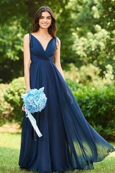 Šifón Bez rukávov Chýbať V krku Letné A Riadok Družičky šaty