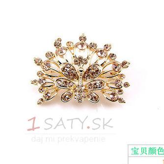 Phoenix najvyššej triedy nádherné zliatiny vyložené diamant brož - Strana 2