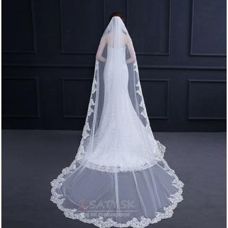 Elegantný čipkovaný závoj s hrebeňom 3 metre dlhý svadobný závoj - Strana 2
