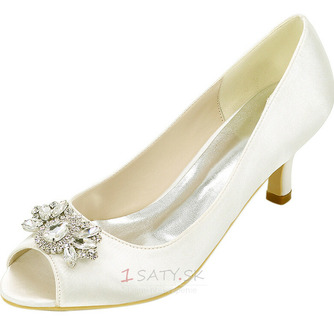 Vysoký podpätok drahokamu dámska obuv móda saténová banketová obuv ihlové sandále - Strana 2