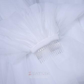 Elegantný čipkovaný závoj s hrebeňom 3 metre dlhý svadobný závoj - Strana 5