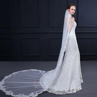 Elegantný čipkovaný závoj s hrebeňom 3 metre dlhý svadobný závoj - Strana 3