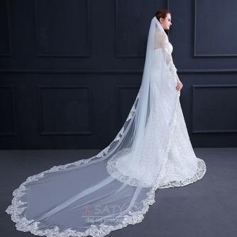 Elegantný čipkovaný závoj s hrebeňom 3 metre dlhý svadobný závoj - Strana 6