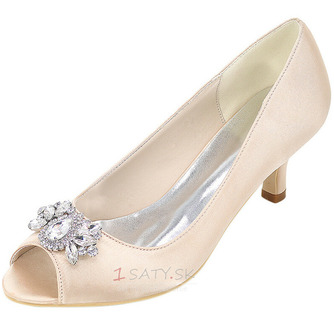 Vysoký podpätok drahokamu dámska obuv móda saténová banketová obuv ihlové sandále - Strana 6