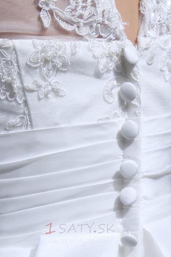 Čipka Chýbať Prírodné pása Široký plytký výstrih Svadobné šaty - Strana 7